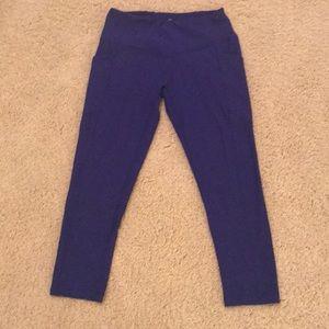 90 Degree by Reflex Royal Blue Leggings Small